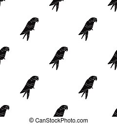 Pirate's parrot icon in black style isolated on white background. Pirates pattern stock vector illustration.