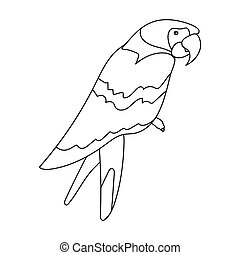 Pirate's parrot icon in outline style isolated on white background. Pirates symbol stock vector illustration.