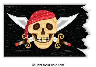 pirates', roger, とても, 旗