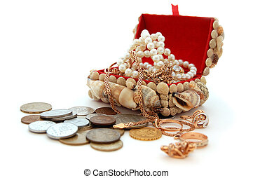 pirate\'s, schatkist, juwelen