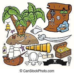 Pirates Treasure Hunt Vectors