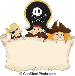 Pirates with Blank Map