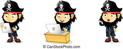 Pirates with phone mascot