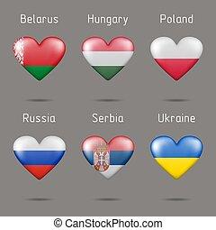 piros, alakít, zászlók