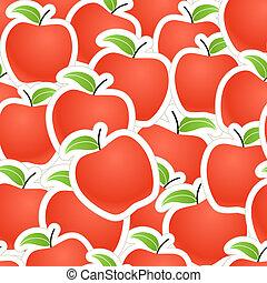 piros alma, seamless, háttér