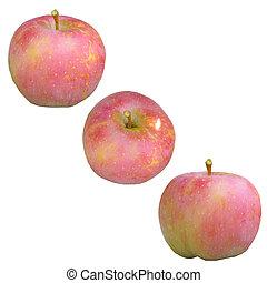 piros, apple.