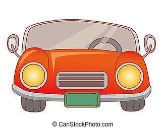 piros autó