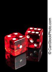 piros black, dobókocka, háttér, áttetsző