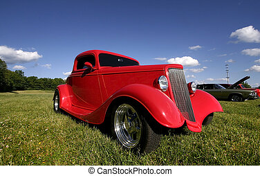 piros, classic autó