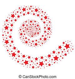 piros, csillaggal díszít