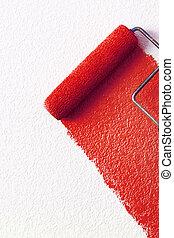 piros festmény