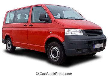 piros, furgon