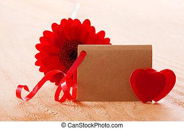piros, gerber, és, szeret, hearts.