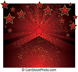 piros háttér, csillaggal díszít