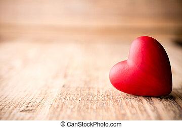 piros, heart.