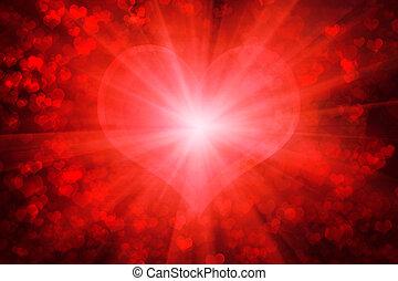 piros, izzó, valentin nap, háttér