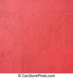 piros közfal, beton, háttér