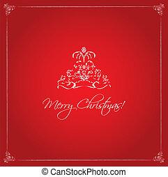 piros, karácsony, háttér