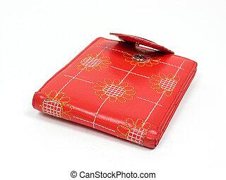 piros, megkorbácsol, pénztárca