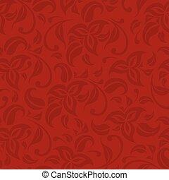 piros, motívum, seamless, elvont