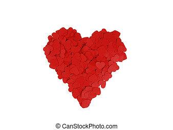 piros, nagy, szív