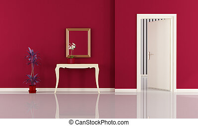 piros, otthon, belépés