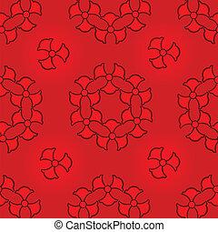 piros, pattern., seamless, elvont