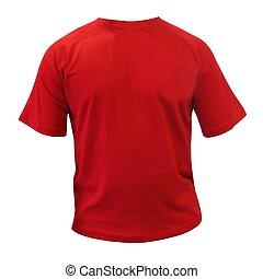 piros, sport, póló