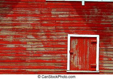 piros szénapajta