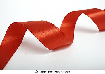 piros szalag, dekoráció, karácsony