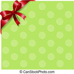 piros szalag, képben látható, zöld
