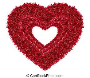 piros, szeret szív