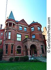 piros tégla, viktoriánus, otthon