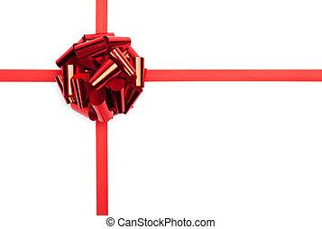 piros, tehetség vonó, noha, szalag