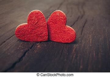 piros,  valentines, Nap, háttér