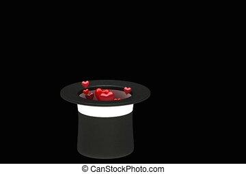 piros, varázsló, kalap