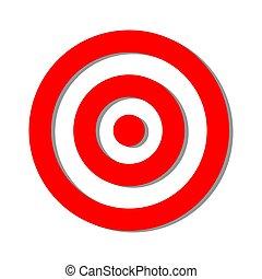 piros, vektor, céltábla, ábra, aláír