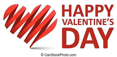 piros, vektor, háttér, boldog, valentines nap