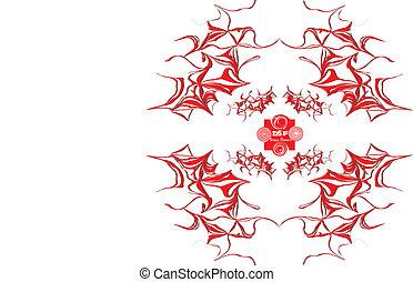 piros vonal, pattern.