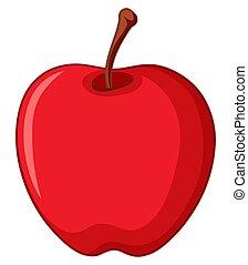 piros white, alma, háttér