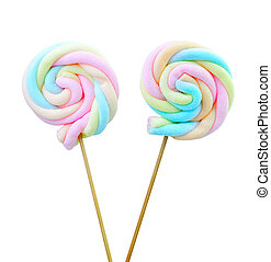 pirulito, marshmallow