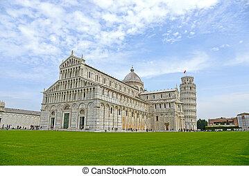 pisa, 傾倒, イタリア, タワー