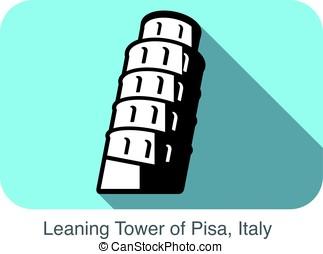 pisa. famous Landmark of the world series