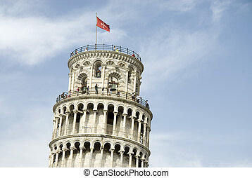 Pisa leaning tower - Pisa top of the leaning tower in Italy