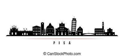 Pisa skyline horizontal banner.