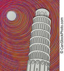 Pisa tower sketch