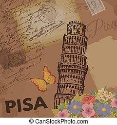 Pisa vintage poster