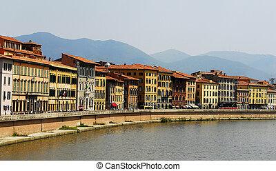 Pisa,Italy,Arno river