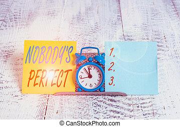 pisanie, showcasing, marki, reputacja, mini, błękitny, perfect., błędy, nad, dwa, drut, zegar, powiedzieć, ręka, fotografia, albo, paper., pokaz, nikt, everyone, wada, bufor, używany, konceptualny, s, między, handlowy