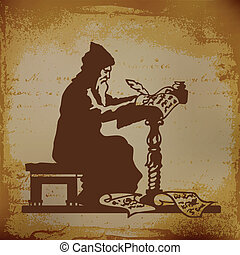 Pisar - Old monk writing a chronicle of contemporary events ...